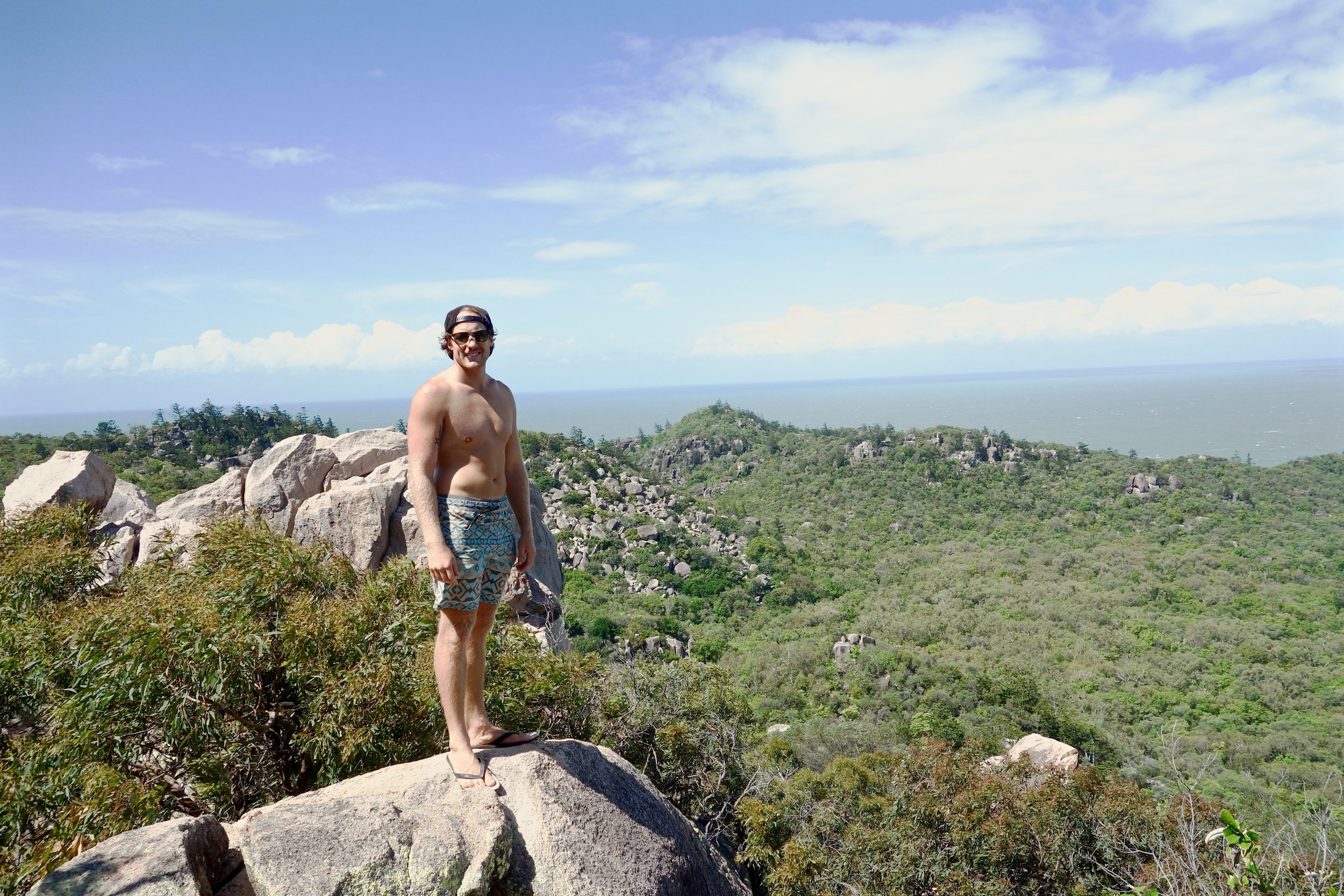 Will on Magnetic Island. A place we thought was slightly overrated, but would be enjoyable on a nice (non-windy) day.