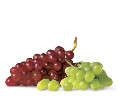 red & green seedless grapes $3.19/lb -