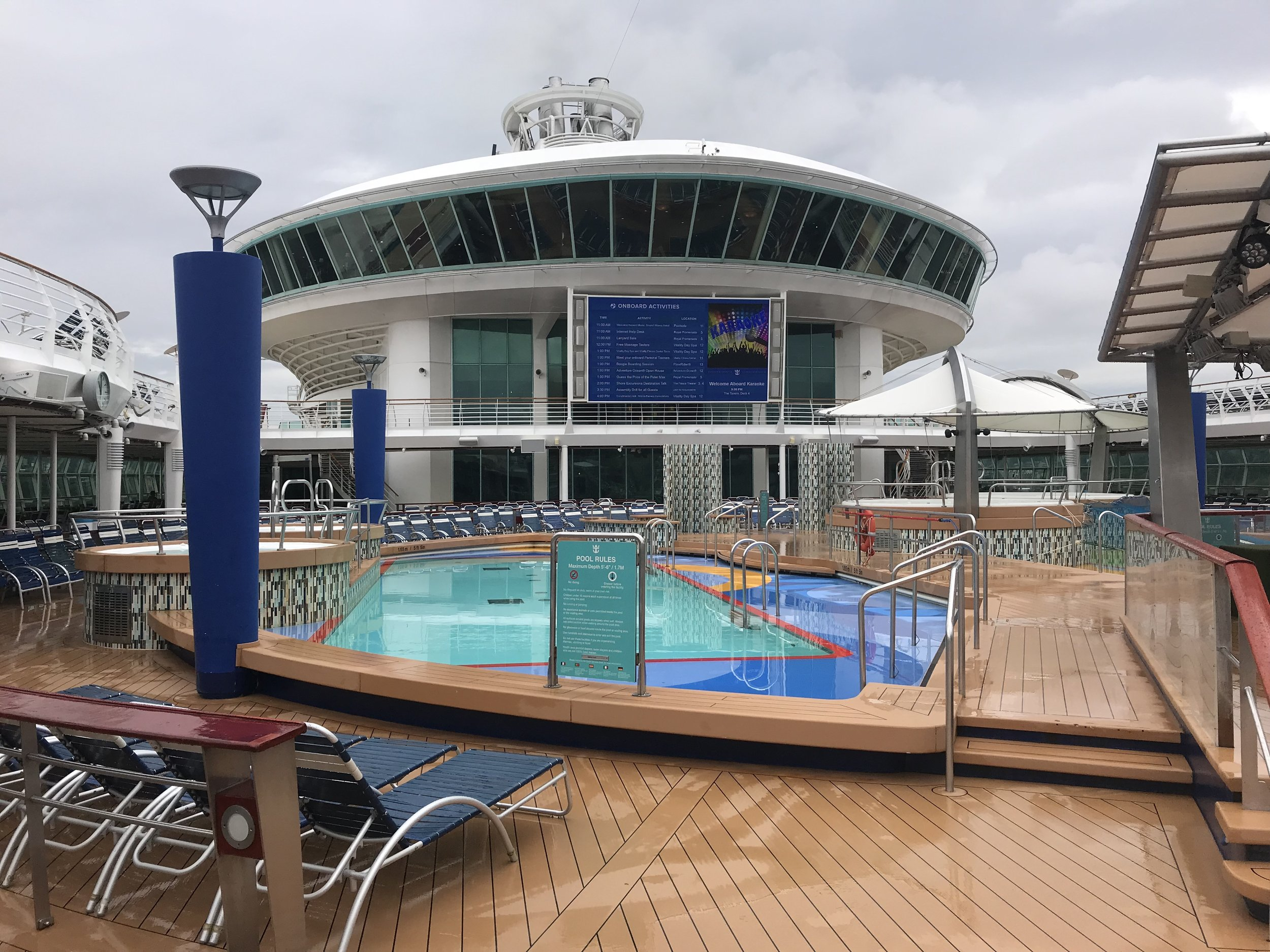 Some how I was first to the lido deck.