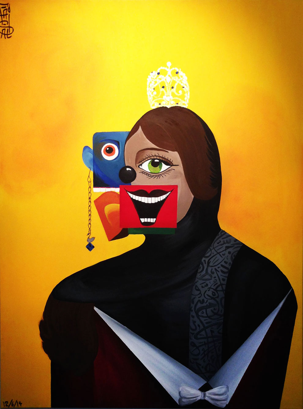 "7-(""The Queen"" - Acrylic on canvas - 48 x 36 inches_ 121 x 91 cm – 2014 ).jpg"