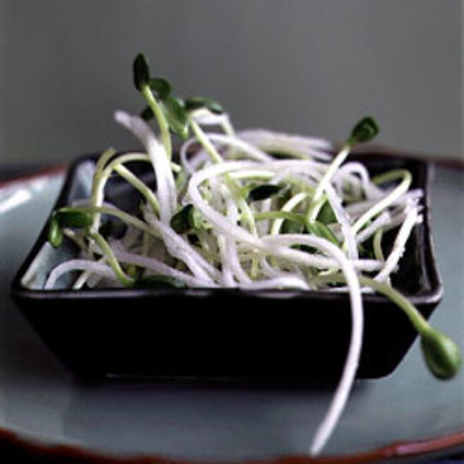 Daikon and Sunflower Sprout Salad -