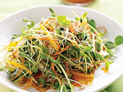 Spicy Sunflower Salad with Carrot Dressing -