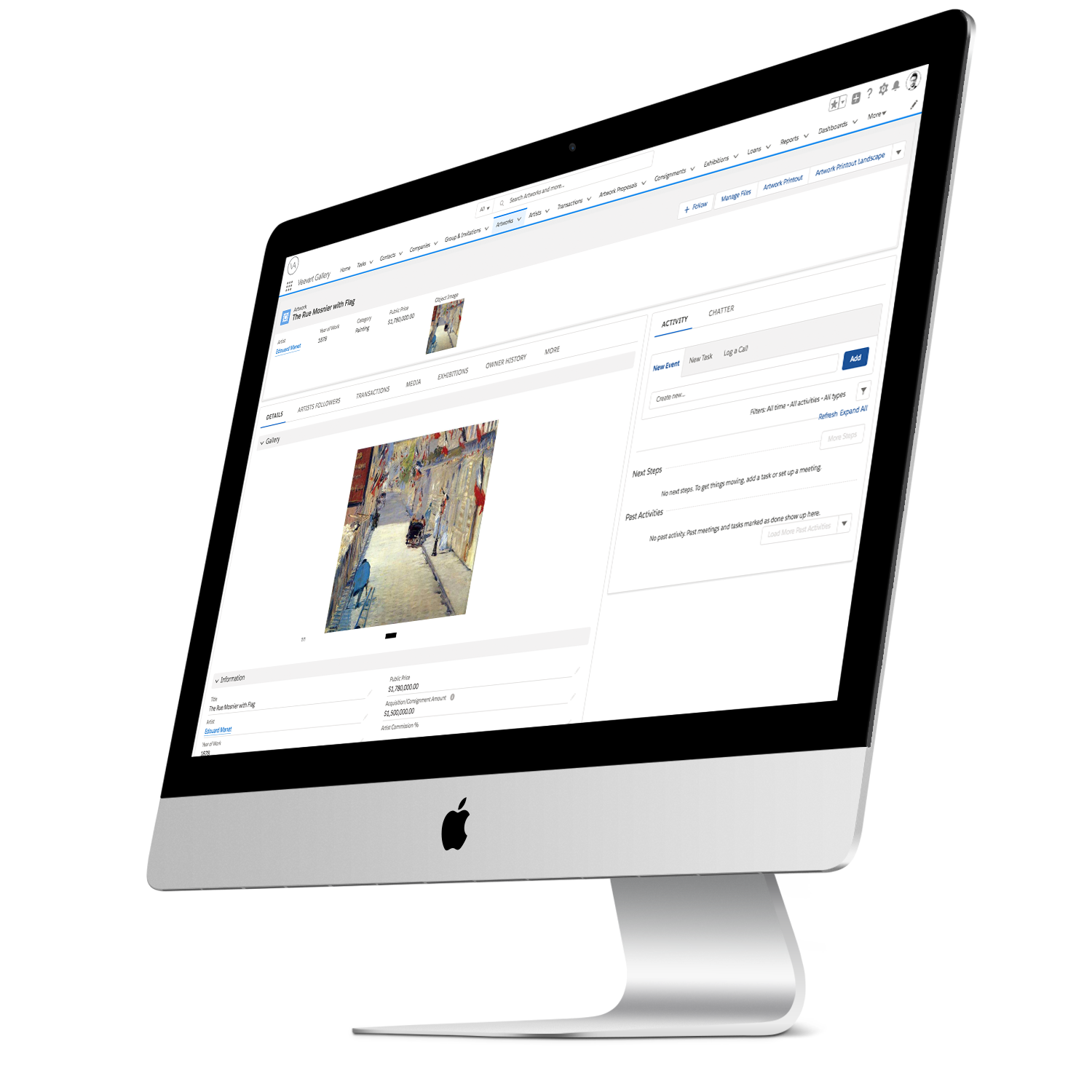 The Best Cloud Platform to Manage your Gallery - Have your contacts, your sales, your email, inventory, exhibition preparation, and more in a single app. Versatile, secure, and customizable, your Art Gallery is always with you