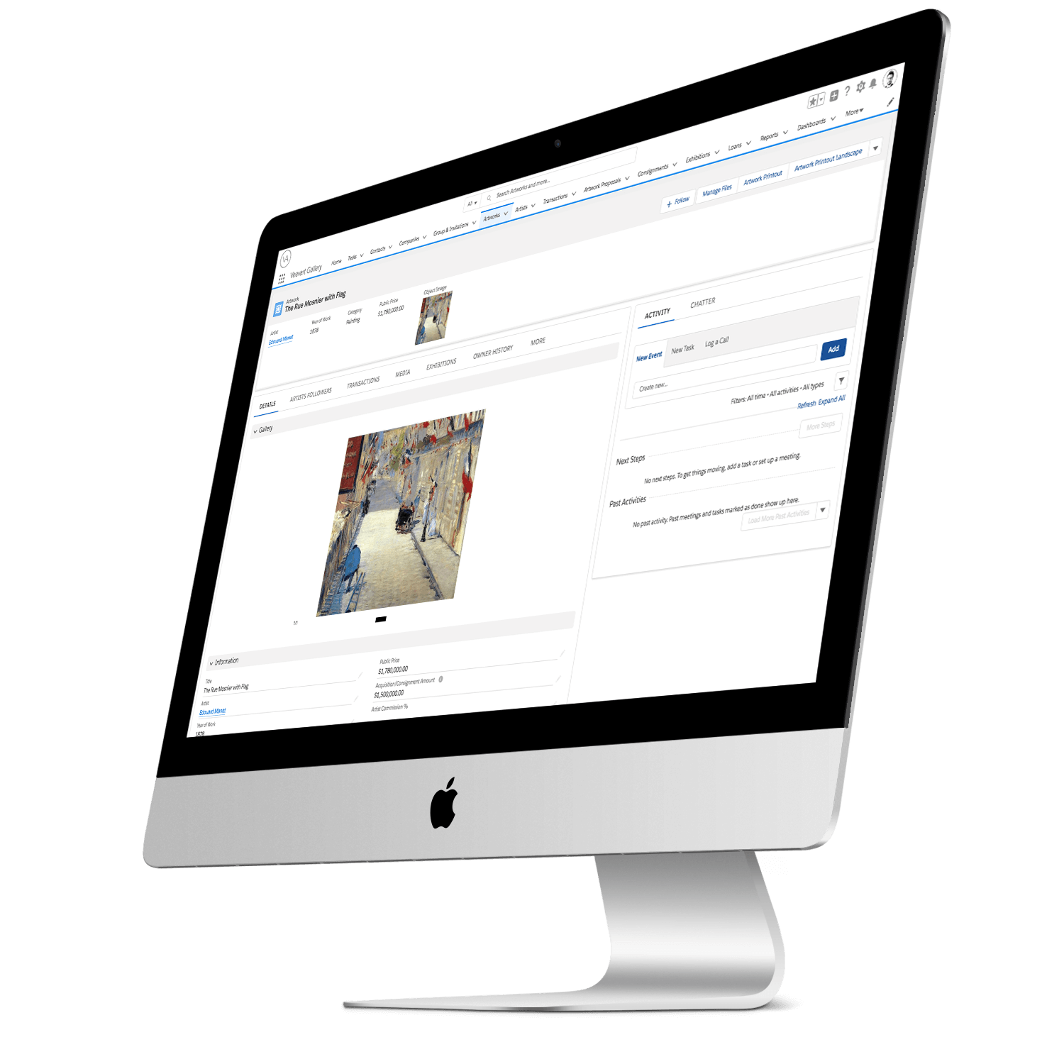 The best cloud platform to manage your gallery - Have your contacts, your sales, your email, inventory, exhibition preparation, and more in a single app. Your Art Gallery is at your fingertips