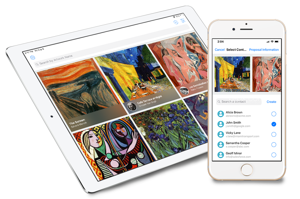 Access your information anytime and anywhere - To be the best in their field, gallerists must have simple and constant access to the information they need