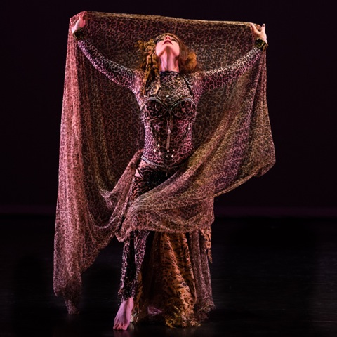 Melina performing at the BU Dance Theater. Photo by Bruce Mount.