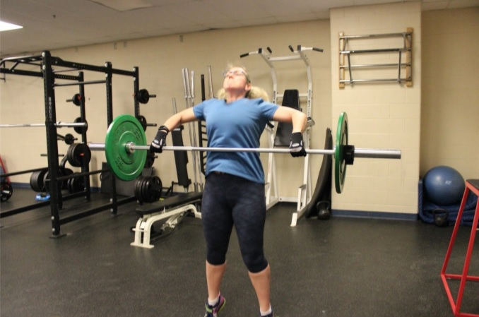 Mid-pull hang snatch