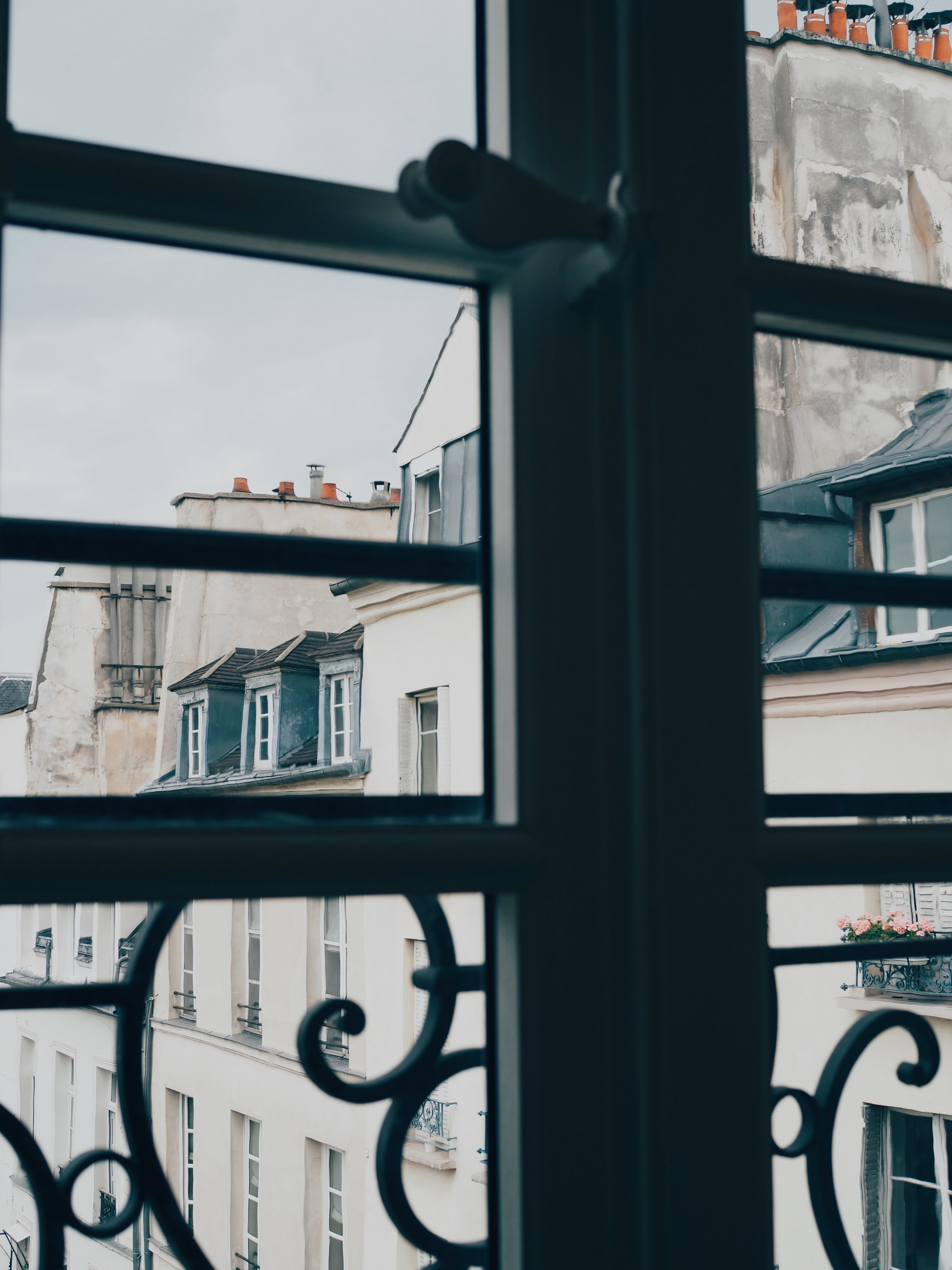 Looking out from the Picasso Museum in the Marais