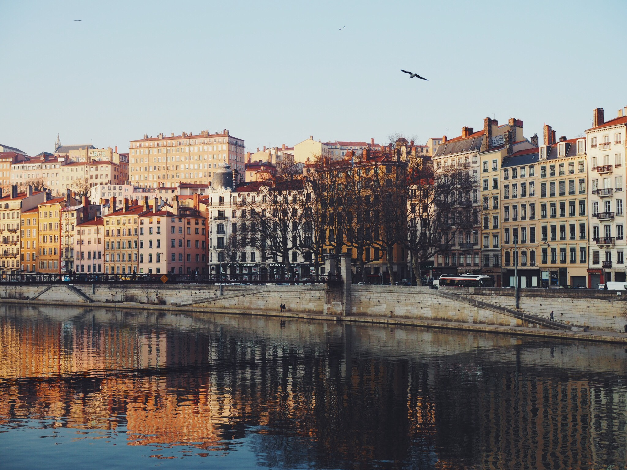 Over looking the Saône River
