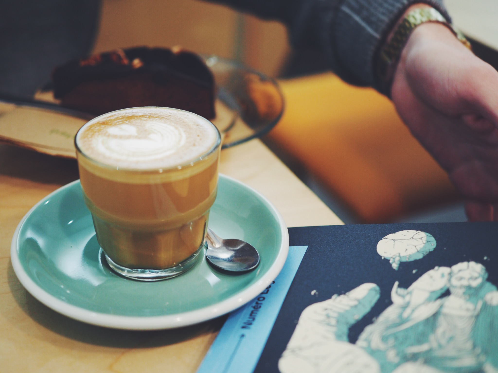 Refuge from the cold can be found in one of Lyon's cosy coffee shops