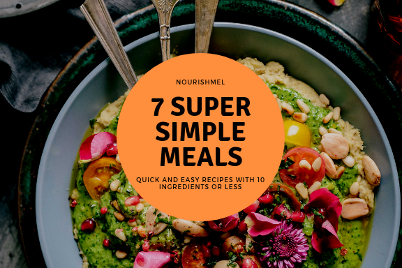 need some ideas? - Get 7 recipes curated and collated by me to get you started cooking in the kitchen. They are the best bet if you are a beginner cook and want to incorporate more nutrient dense meals into your home to fight stress and help with weight loss.