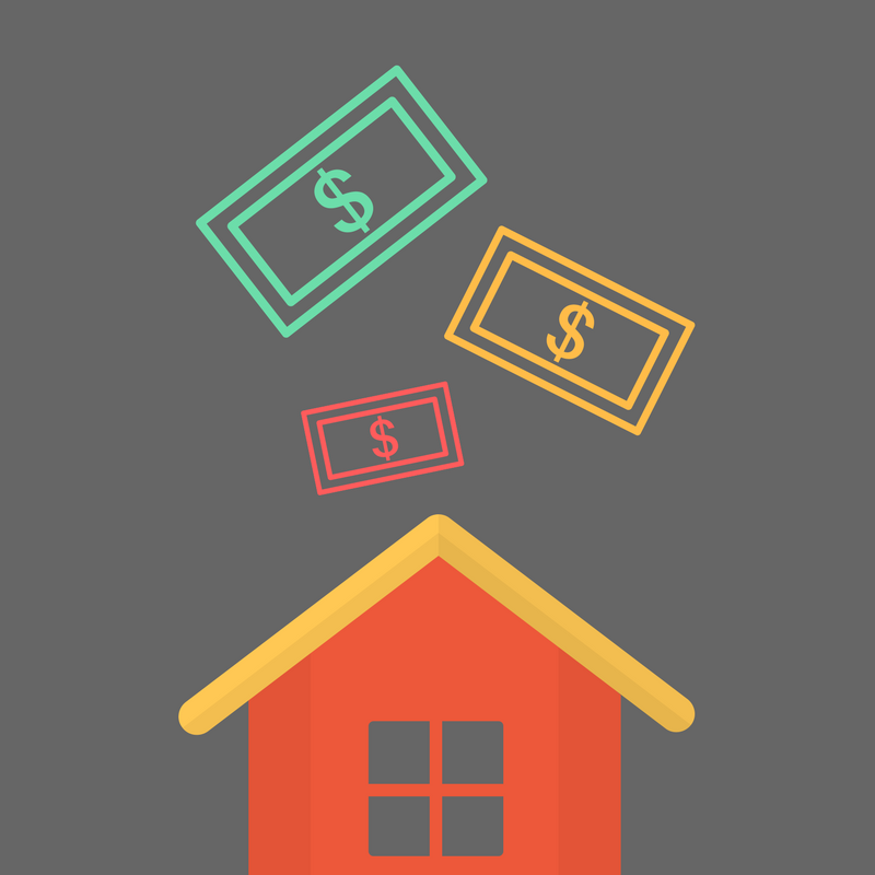 house with dollar notes illustration