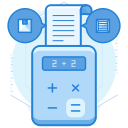 calculator printing receipts graphic