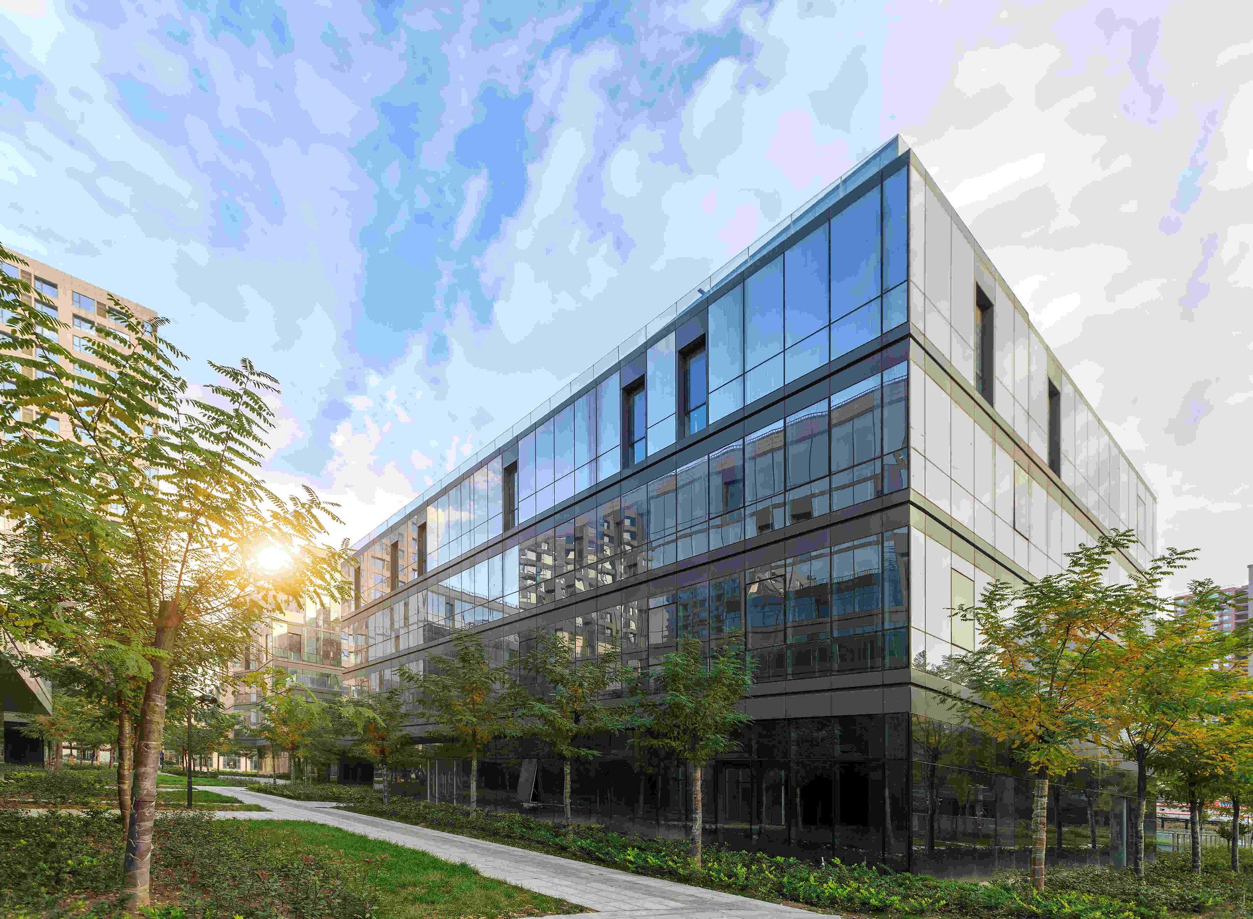 office building under a blue sky.jpg