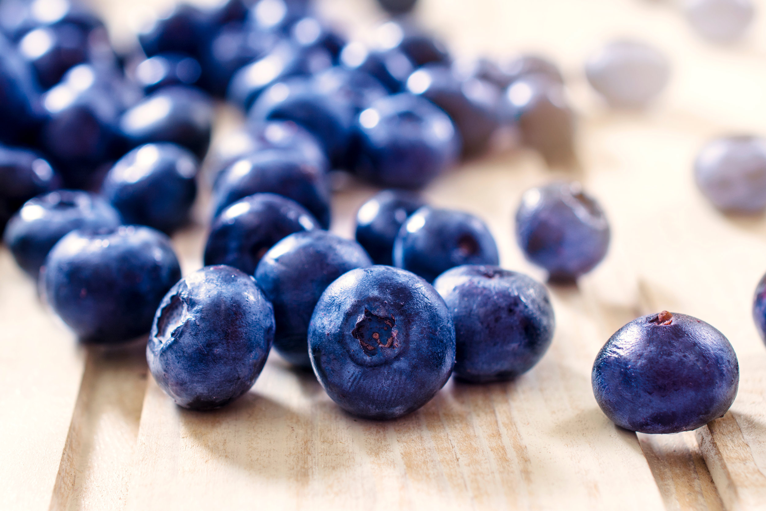 blueberries, the basis for our vanilla and blueberry soy candle