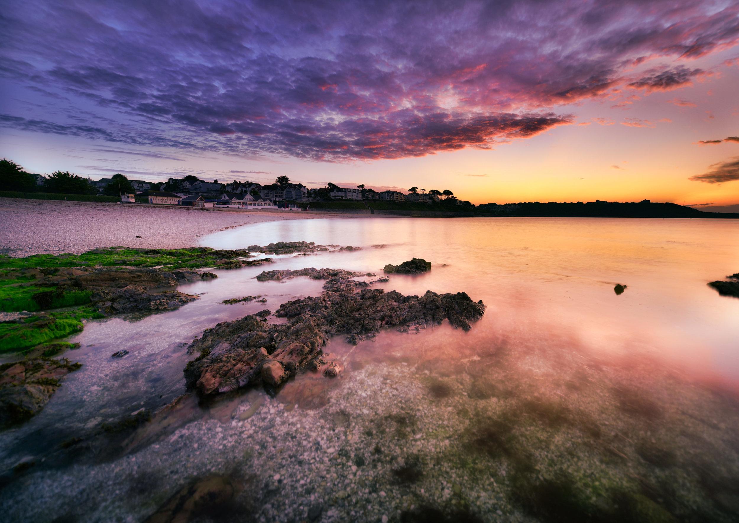 Gyllyngvase Beach Sunrise, Cornwall