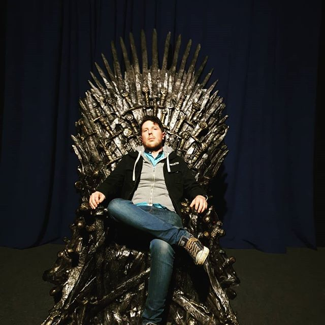 GoT to sit on the ol'iron throne while in #belfast #delighted #twasnicetositdown