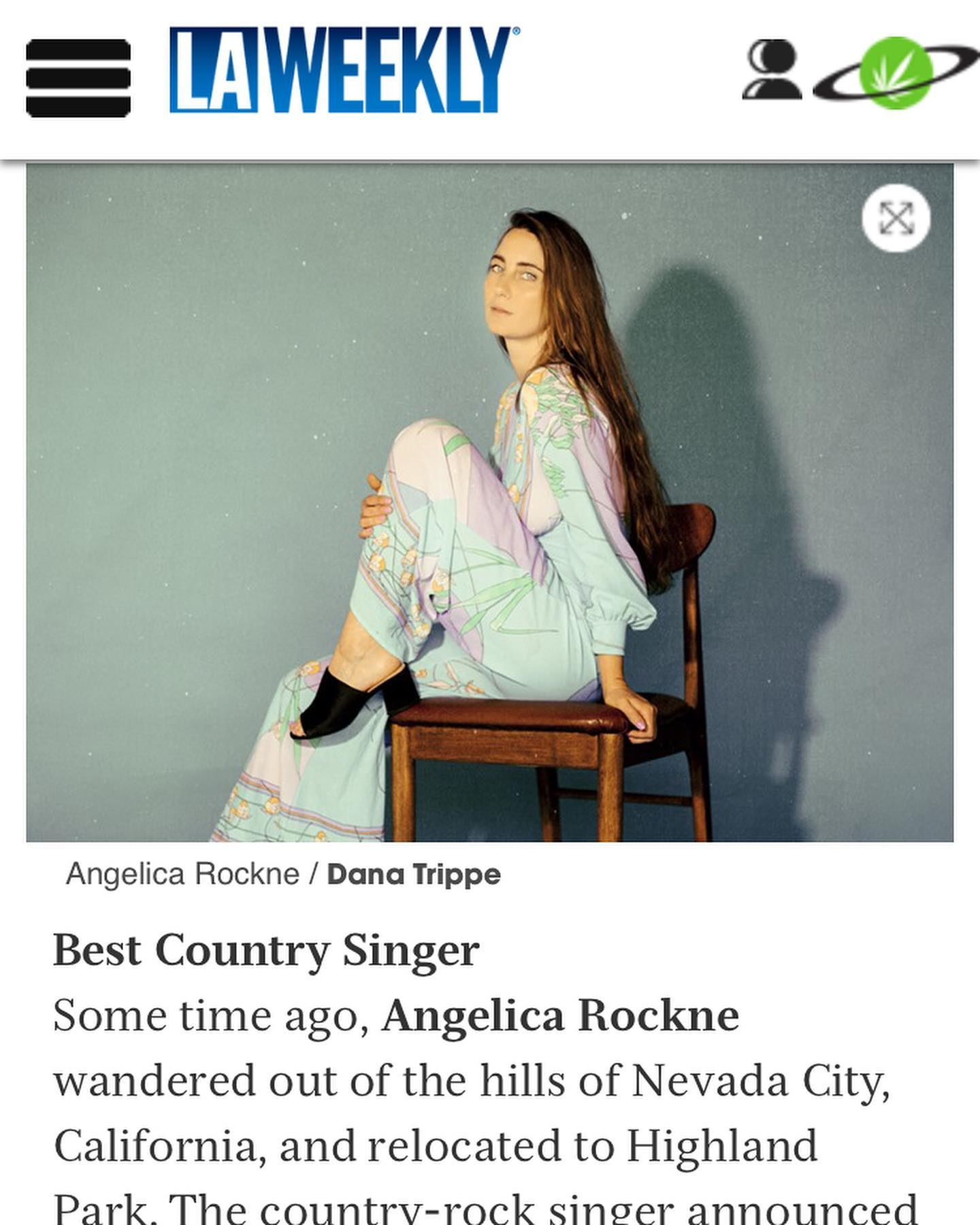 Best Country Singer - 2019 by Falling James of LA Weekly