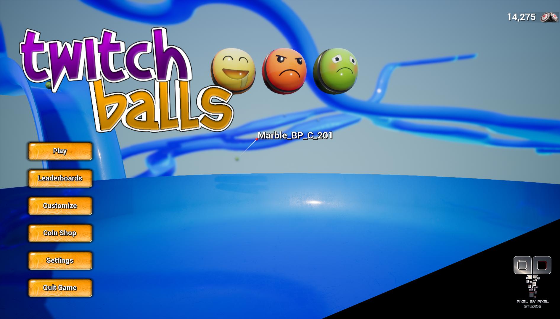Main Menu Screenshot TwitchBalls