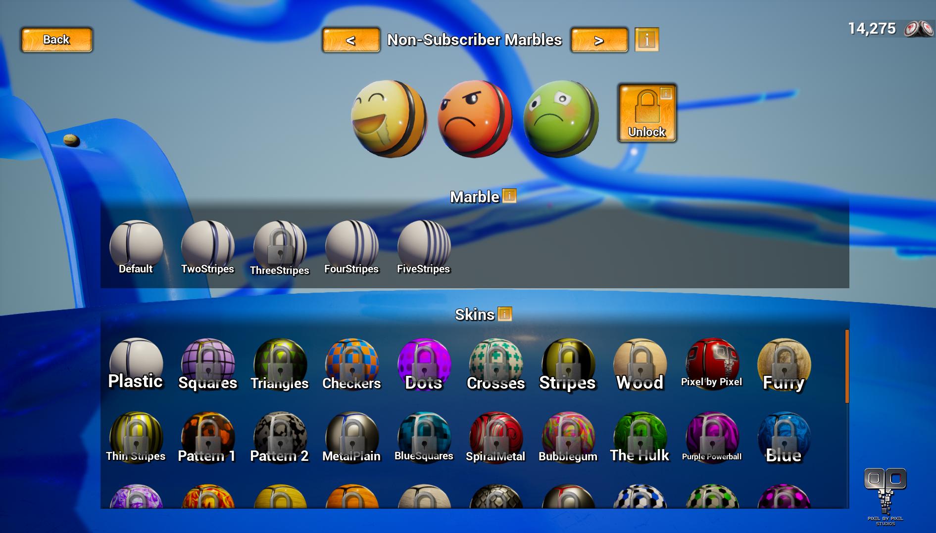Customization Menu Screenshot Twitchballs