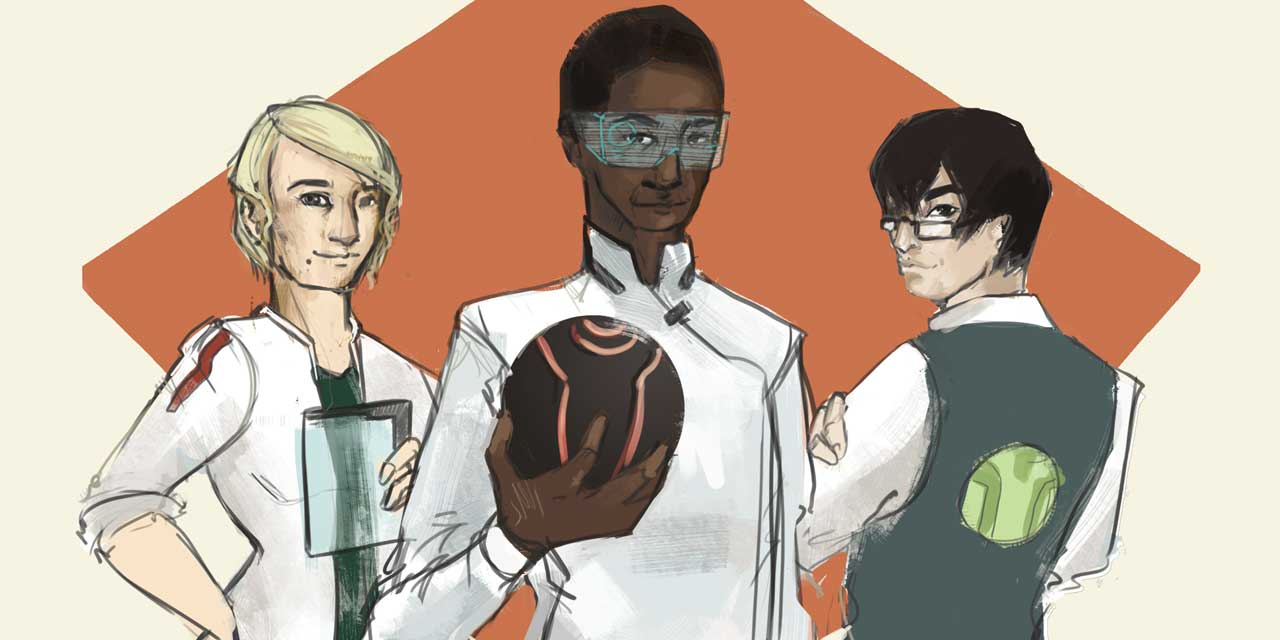 From left to right: Dr. Elisna Katrine, Byrono Mon-Omar and Lancer Quan.