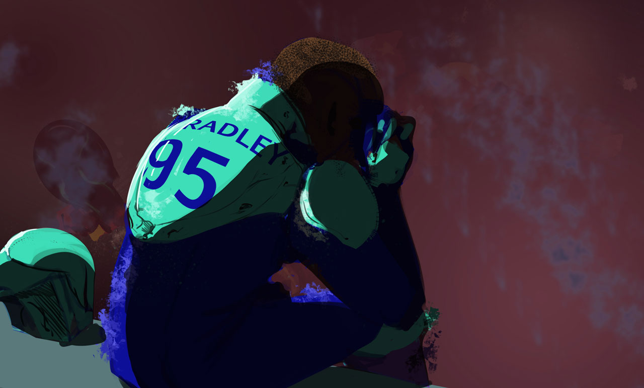 Captain Liddell Bradley #95 and Comets lick their wounds after losing a match they should have won.