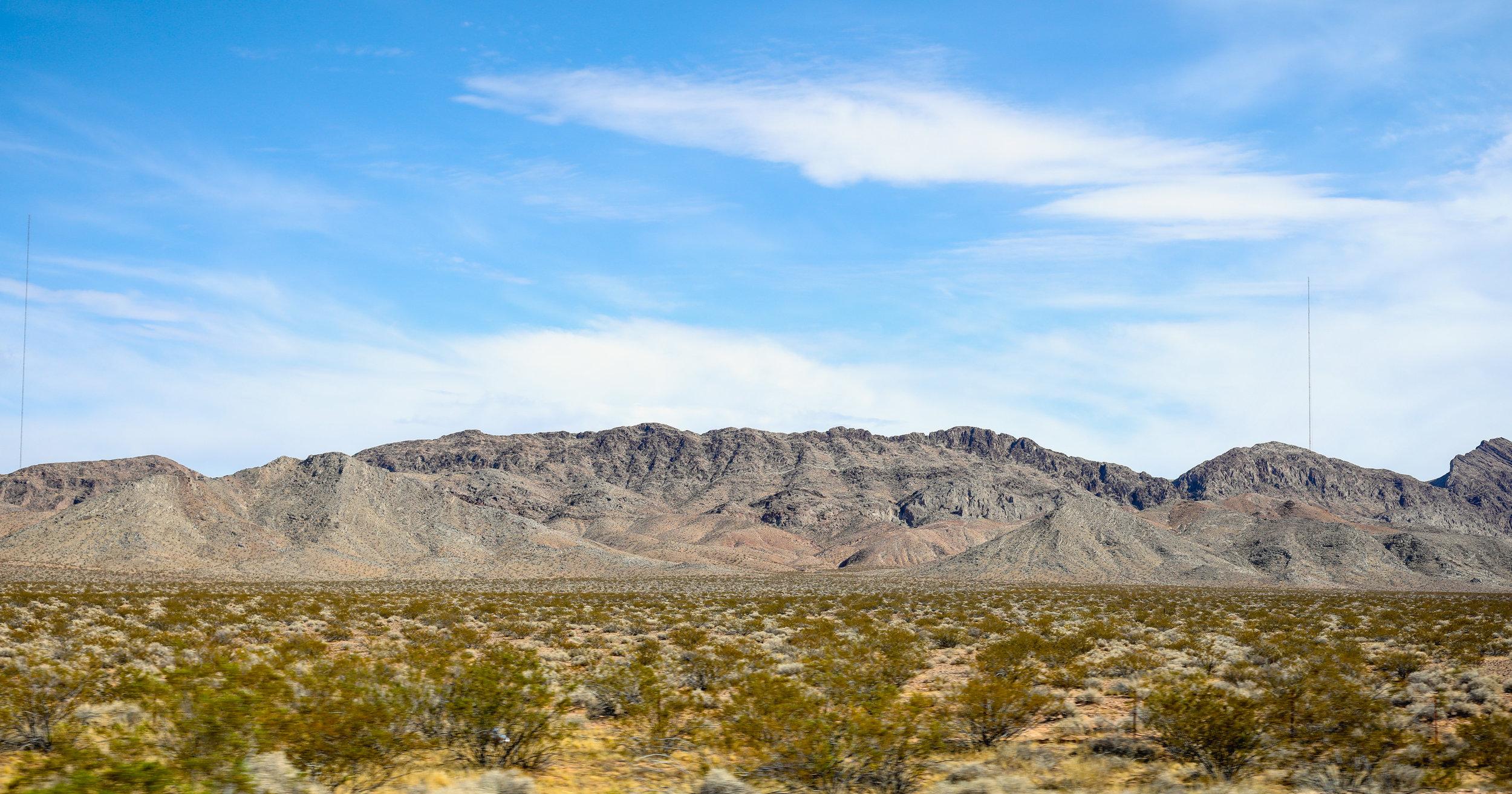 Desert outside las vegas