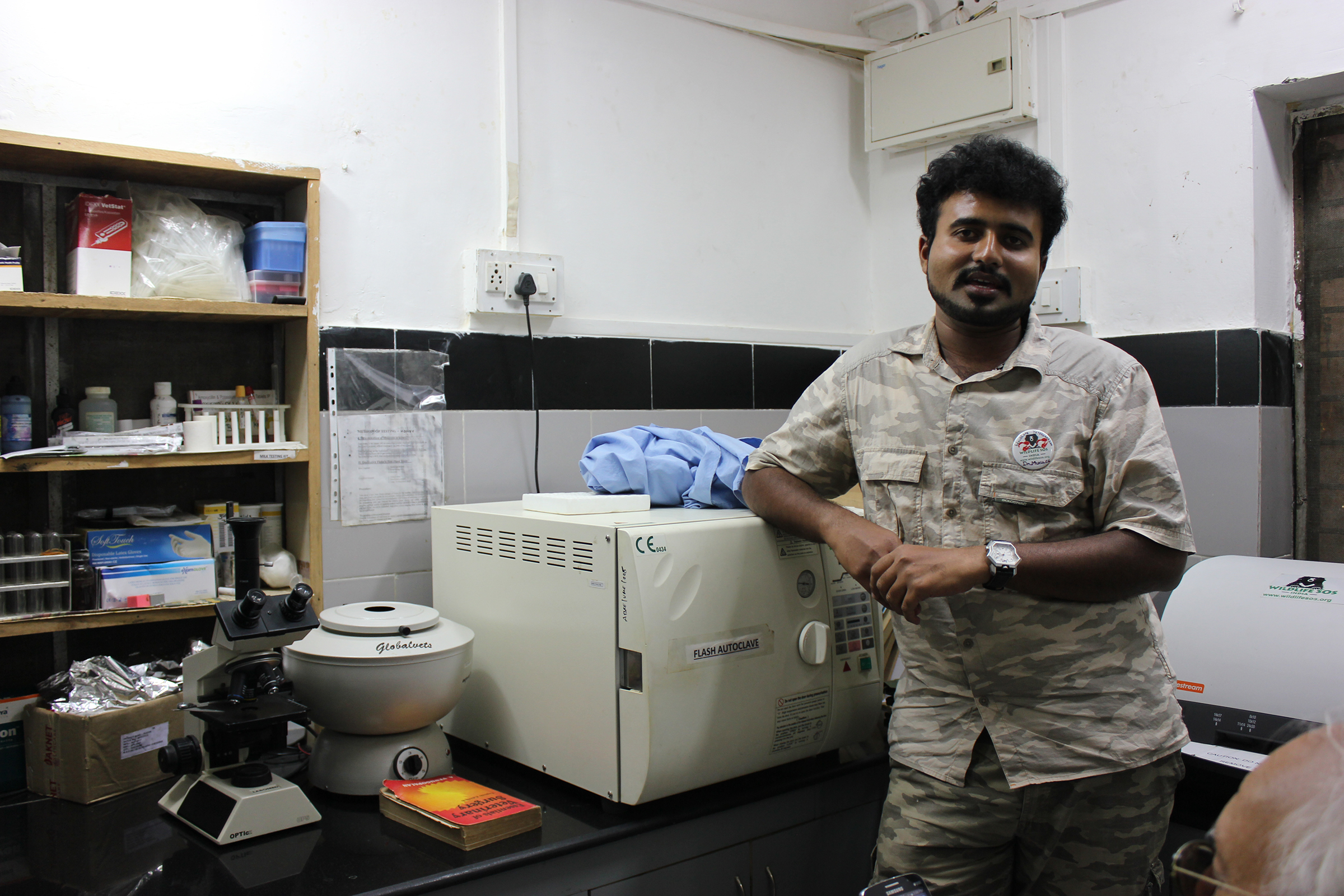 One of Wildlife SOS's dedicated veterinarians. He showed us the bear hospital facility with all its state of the art equipment and machines. Along with treating all ailments and injuries, these doctors give the bears yearly physical exams and each bear has its own electronic medical record! So impressive.