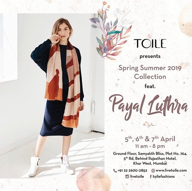 We are excited to announce that our SS19 Ecologies collection is previewing at TOILE, Mumbai's first concept store for sustainable fashion. The spring/summer preview starts tomorrow through the weekend. We'll be officially launching online soon, but stop by if you are in Mumbai to get an early look! #regram #sneakpeek @livetoile