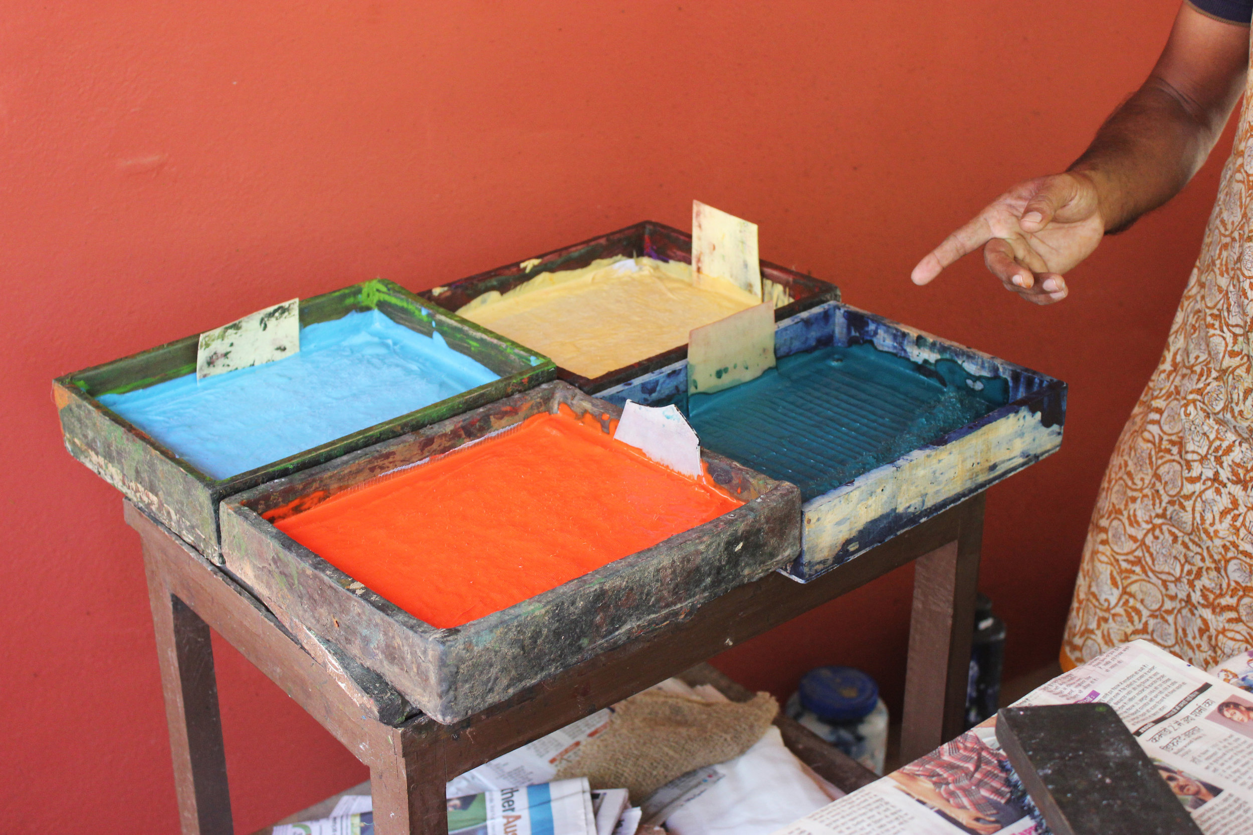 Dye for the Indian Pitta Bird style.