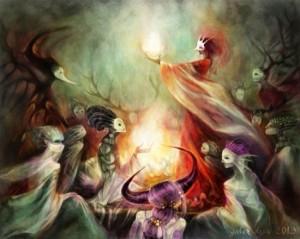 Galen Dara's cover art for Fireside