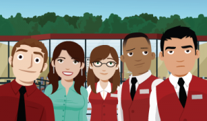 LtoR: Kurt, Melissa, Becky, Franklin & Jason. Your friendly neighborhood Multiplex 10 staff