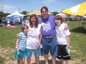 Anthony R Cardno with niece Renee, his sister, and his nephew, Vinny