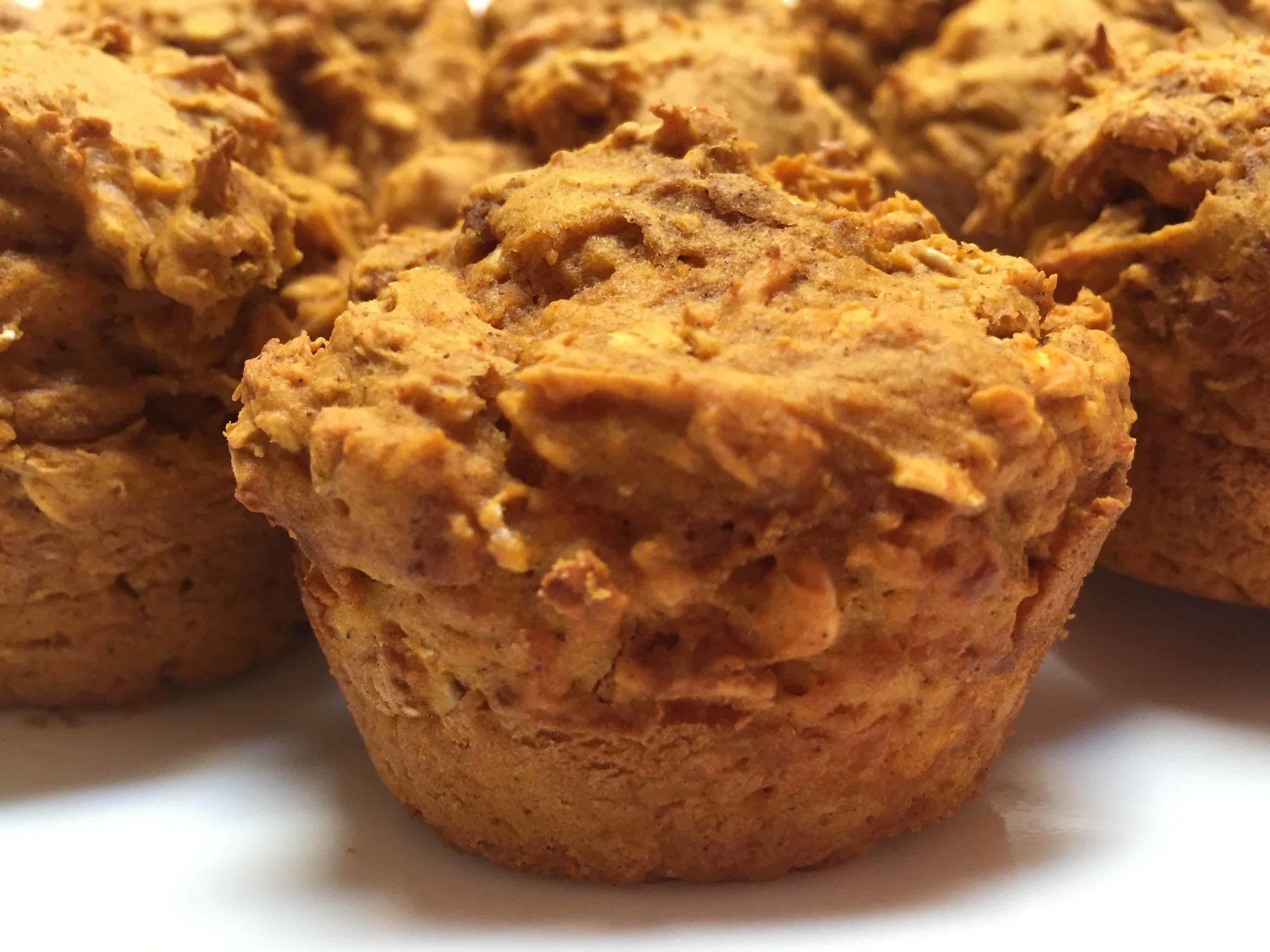 Pumpkin lactation muffins for breastfeeding and pumping moms