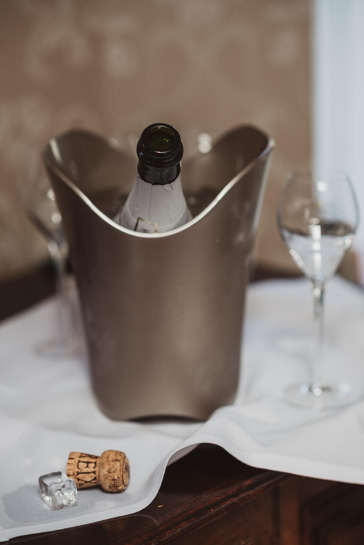 champagne Lake District wedding