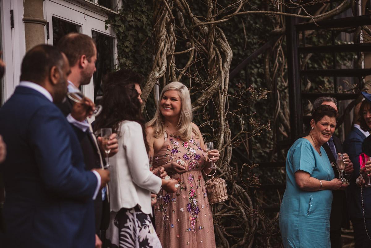 natural shot of guests outside