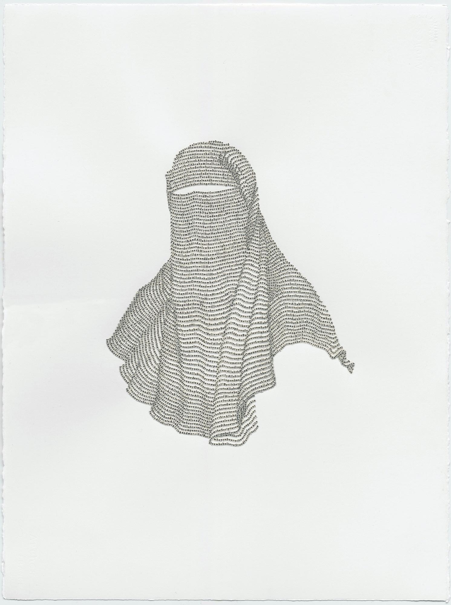 "Niqab No. 3, Surah 4 from the Koran (""Women"")"
