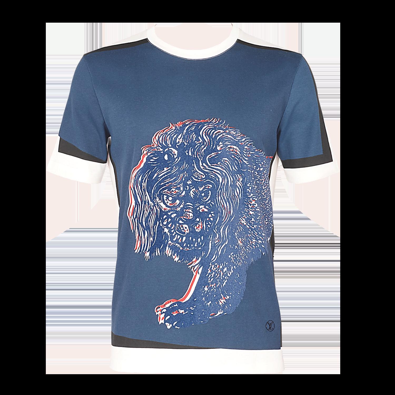 LION PRINTED SHIRT - €4201A2HX7BLANC LAIT
