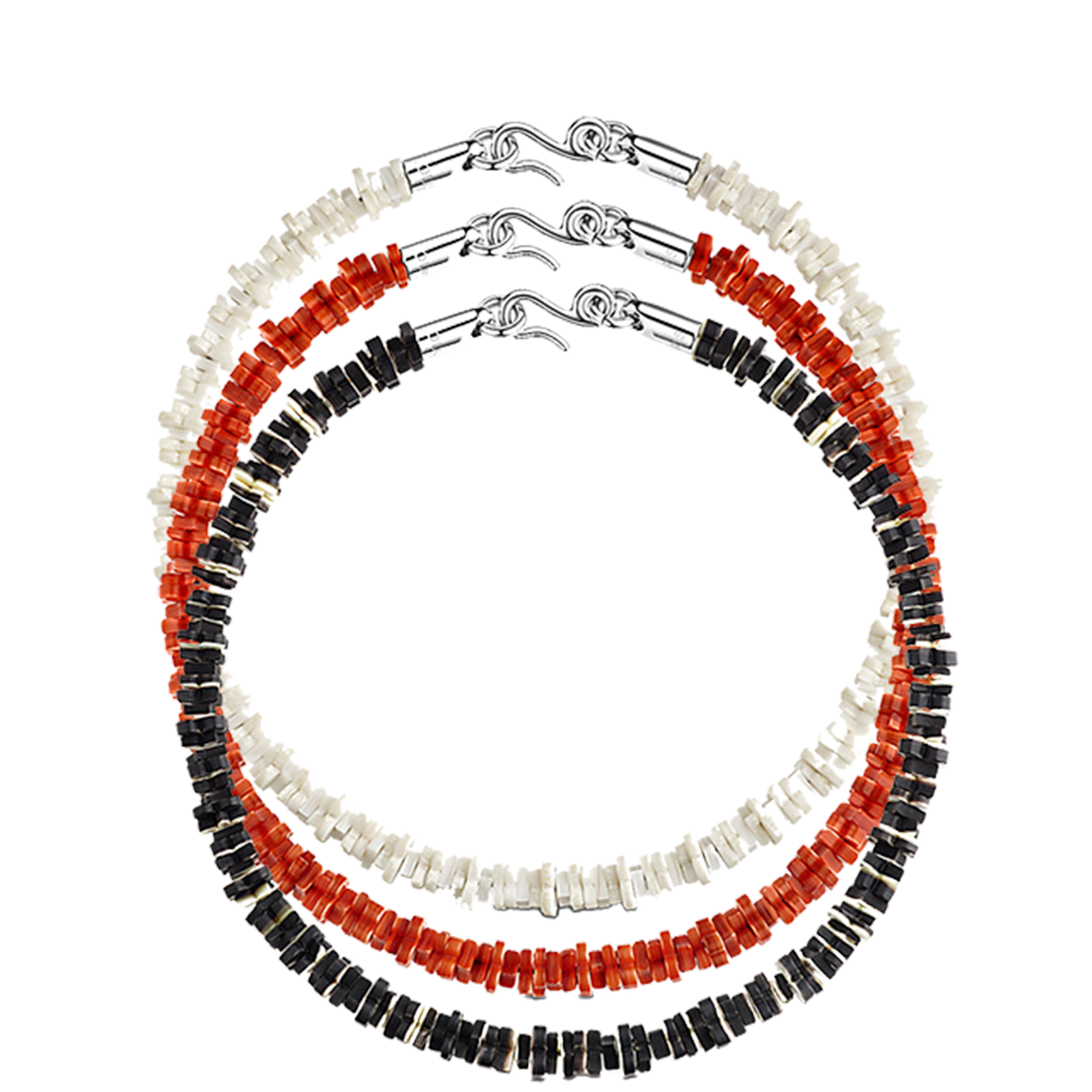 TROPICAL FLOWERS NECKLACE - €525 $775MP1963/MP1964/MP1965WHITE/ORANGE/BLACK
