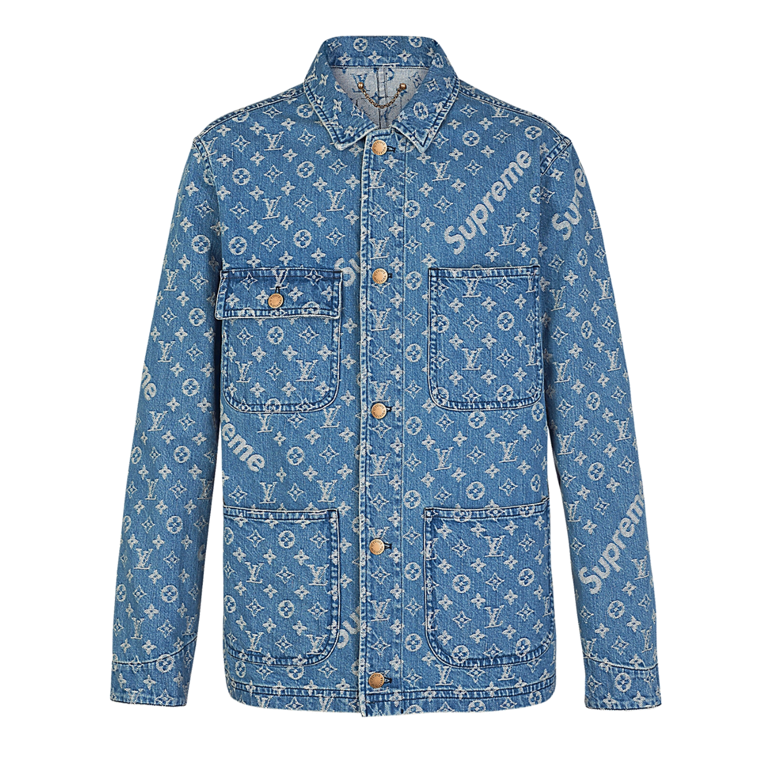 BARN JACKET  - €1750 $21801A3FI0MONOGRAM DENIM BLUE