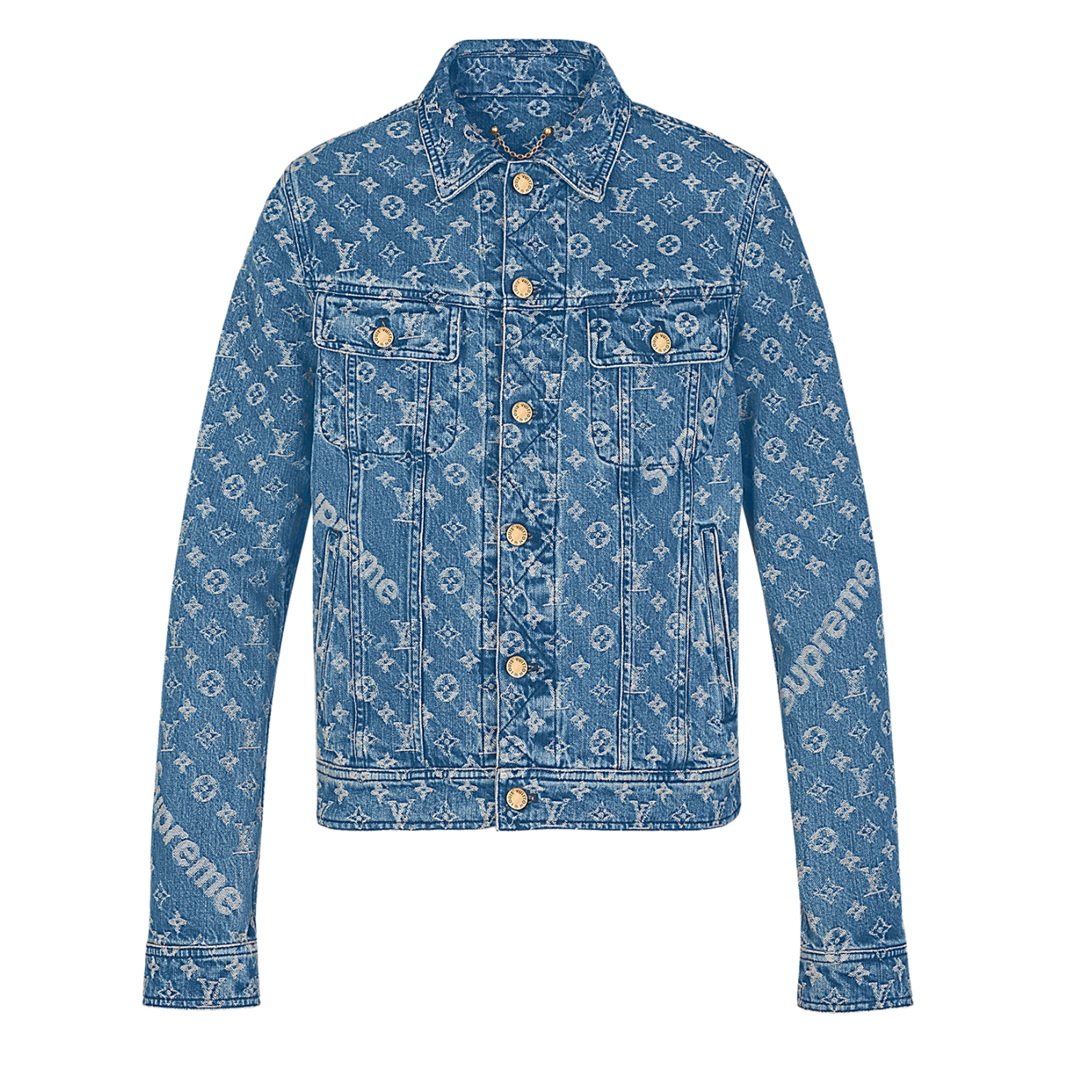 TRUCKER JACKET - €1100 $13701A3F9HMONOGRAM DENIM BLUE