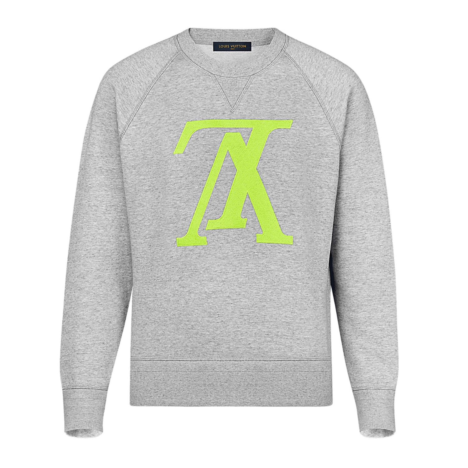 UPSIDE DOWN LV SWEATSHIRT - €690 $9951A46ZDNEON YELLOW
