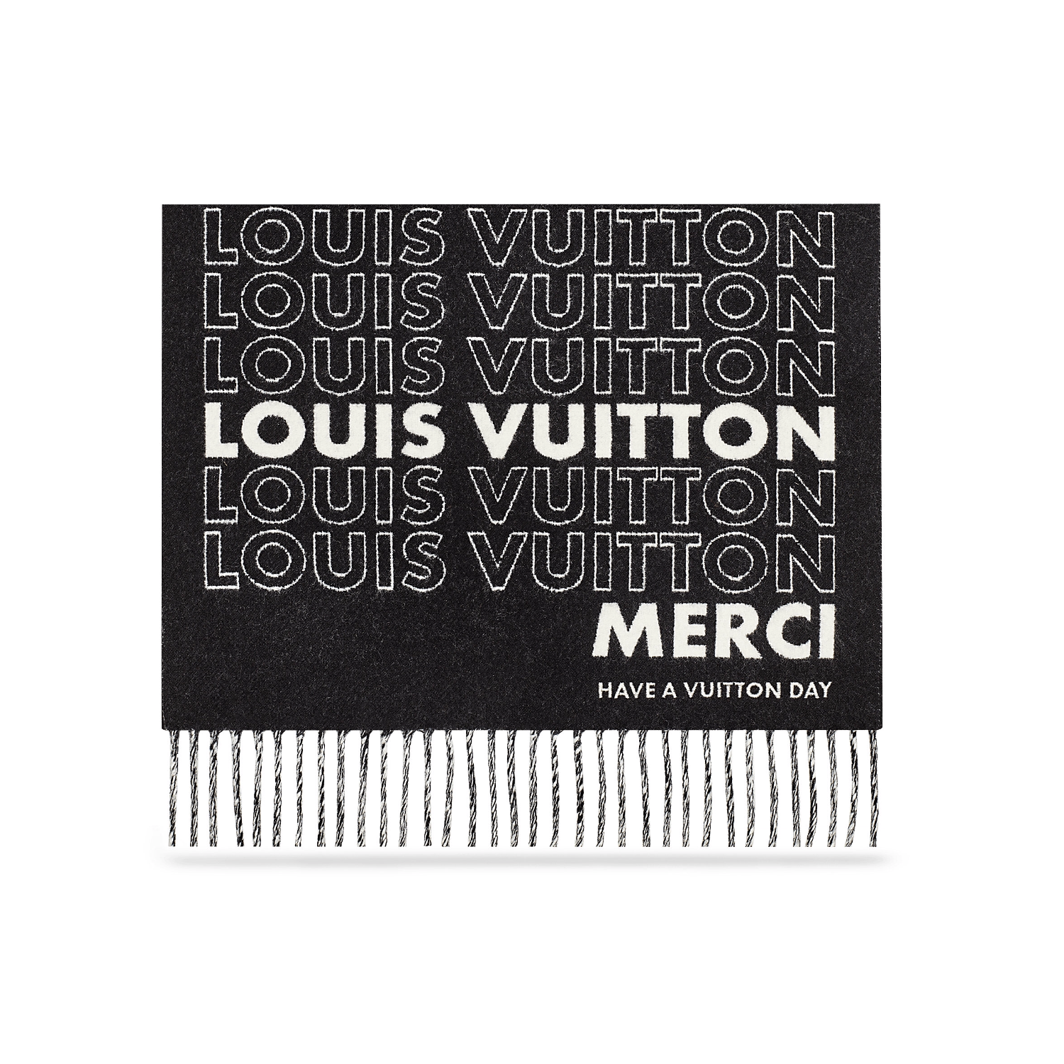 LV LIST CITY SCARF - €385 $650MP2121BLACK