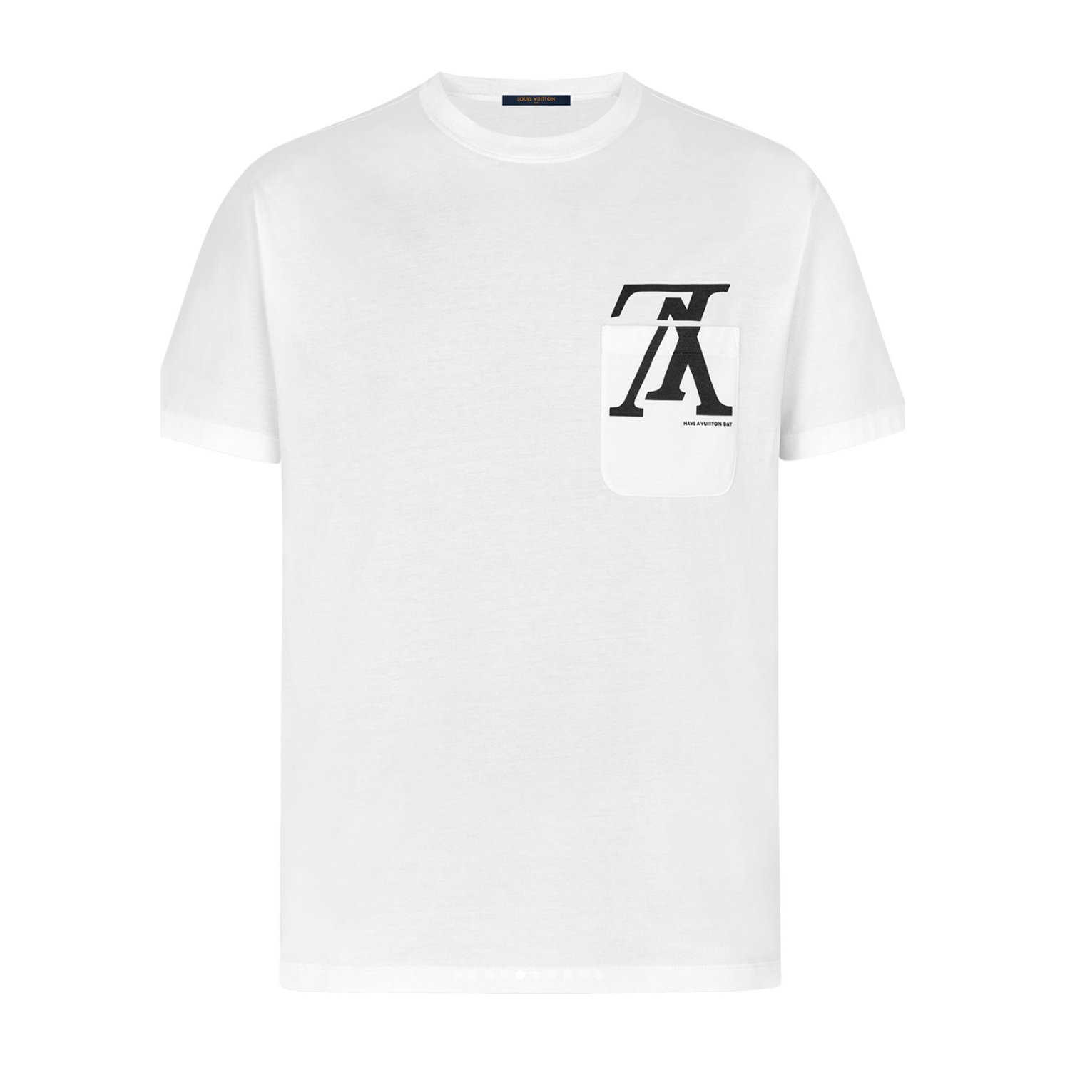 UPSIDE DOWN LV POCKET TEE - €420 $6051A46ZTWHITE