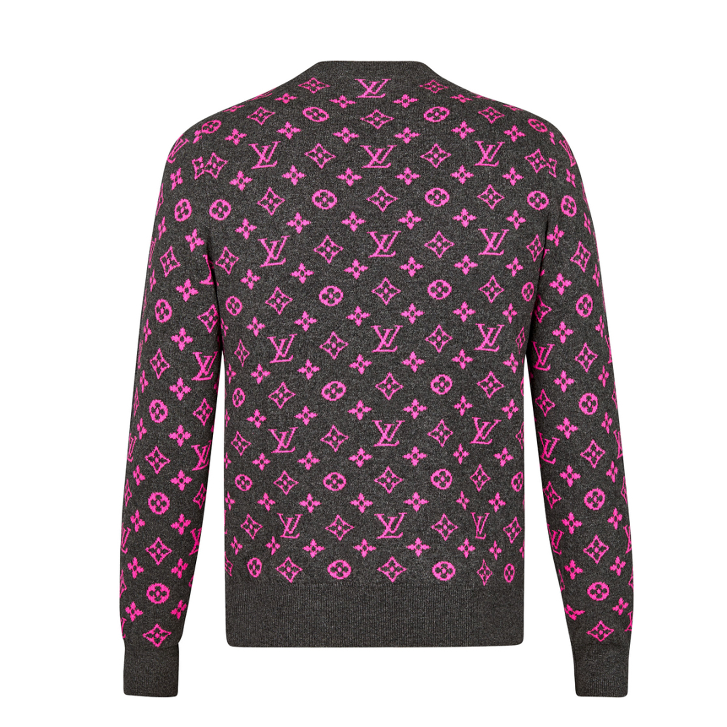 NEON MONOGRAM BACK SWEATER - €850 $12201A46XXNEON purple