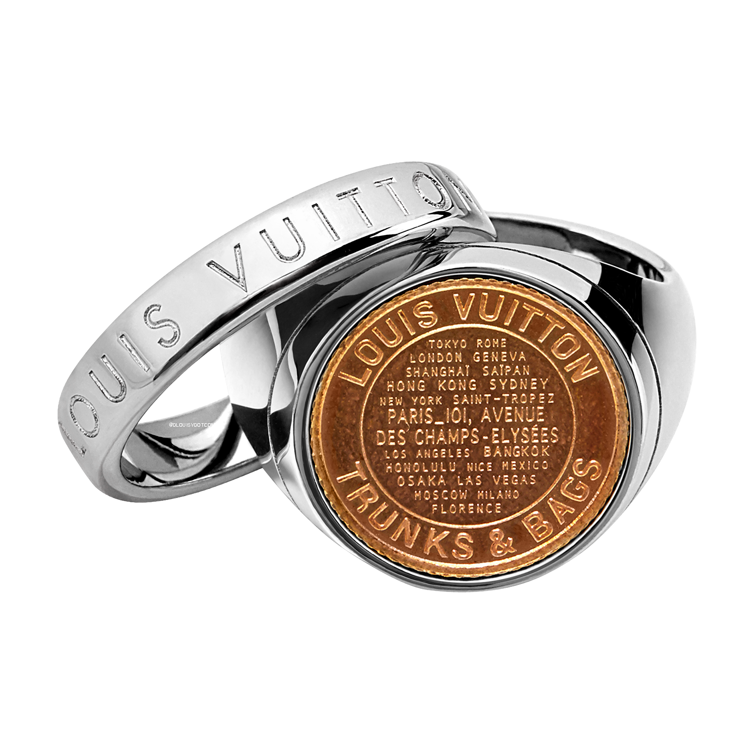 LV AMERICANA COIN RING - €350 $515MP2134GRIS