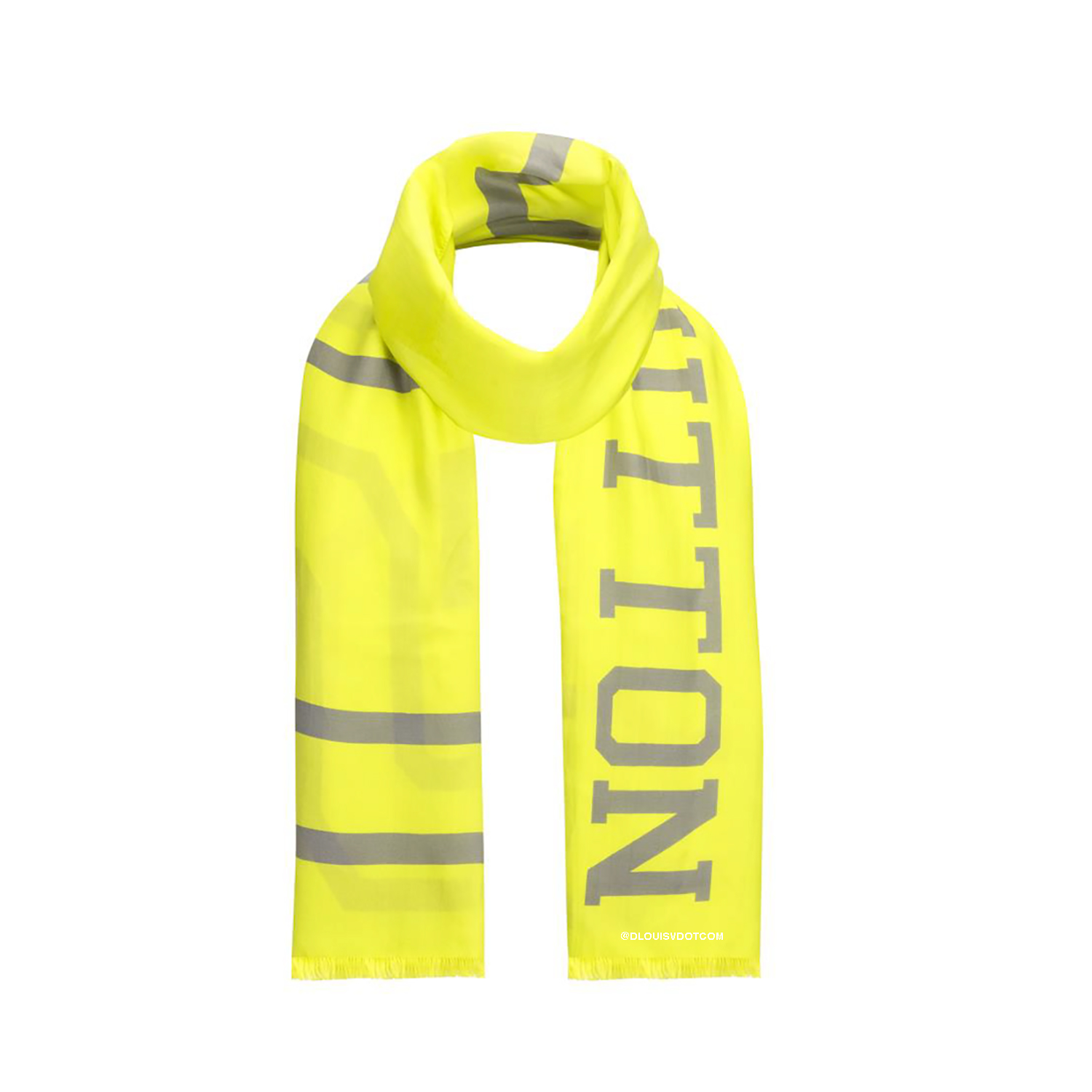 FLUO LOUIS SCARF - €440 $650MP2152JAUNE