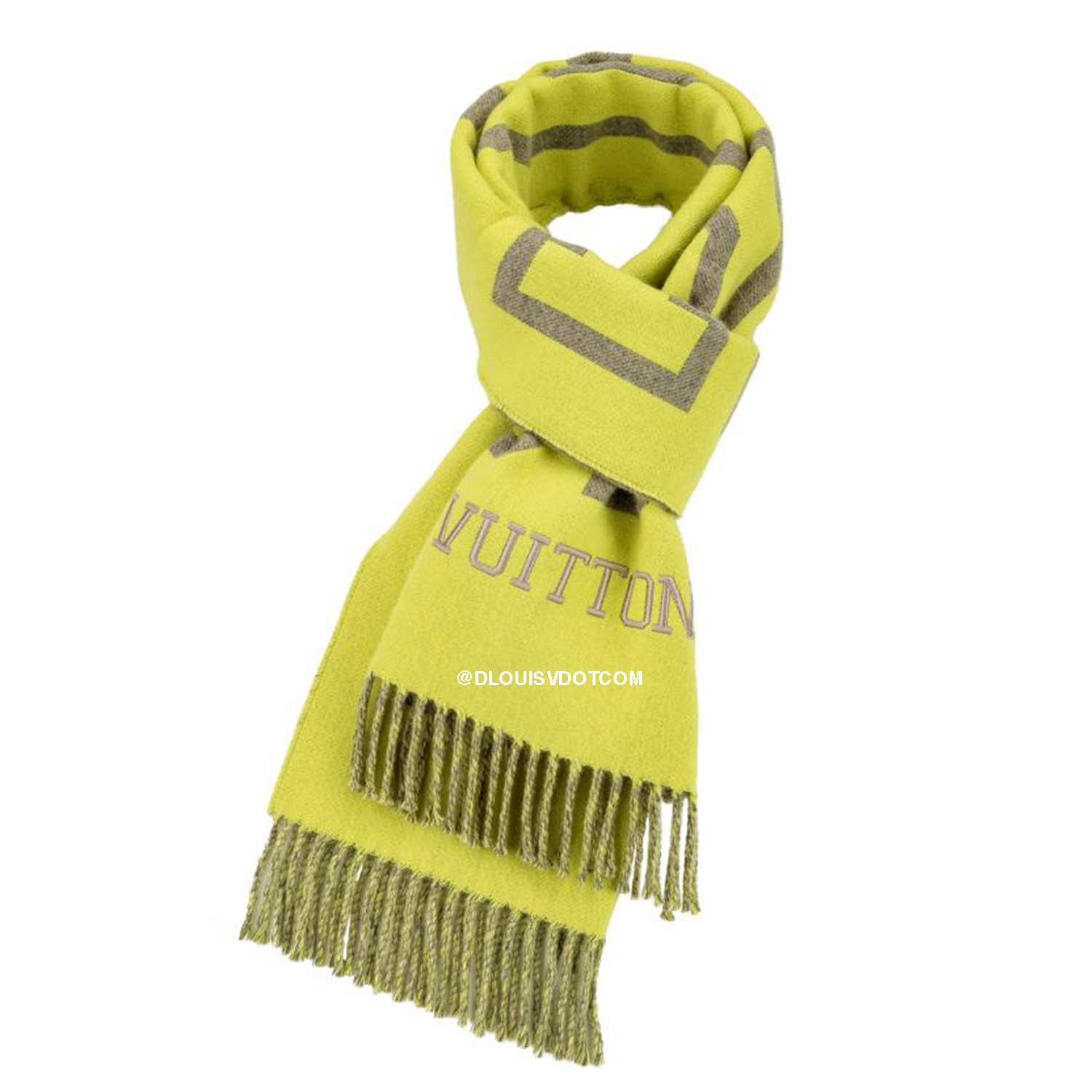 FLUO LOUIS SCARF - €440 $650MP2154JAUNE