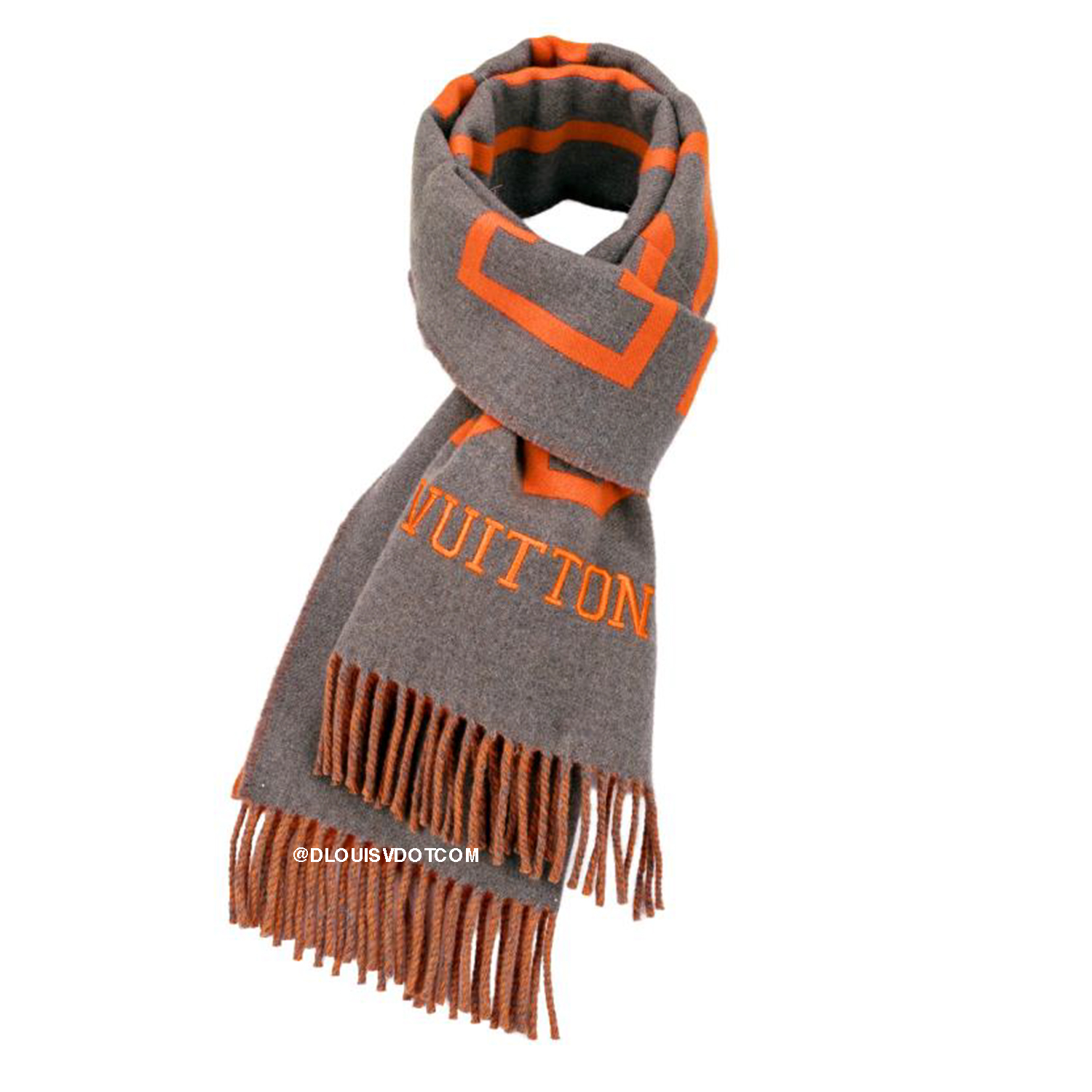 FLUO LOUIS SCARF - €440 $650MP2153ORANGE