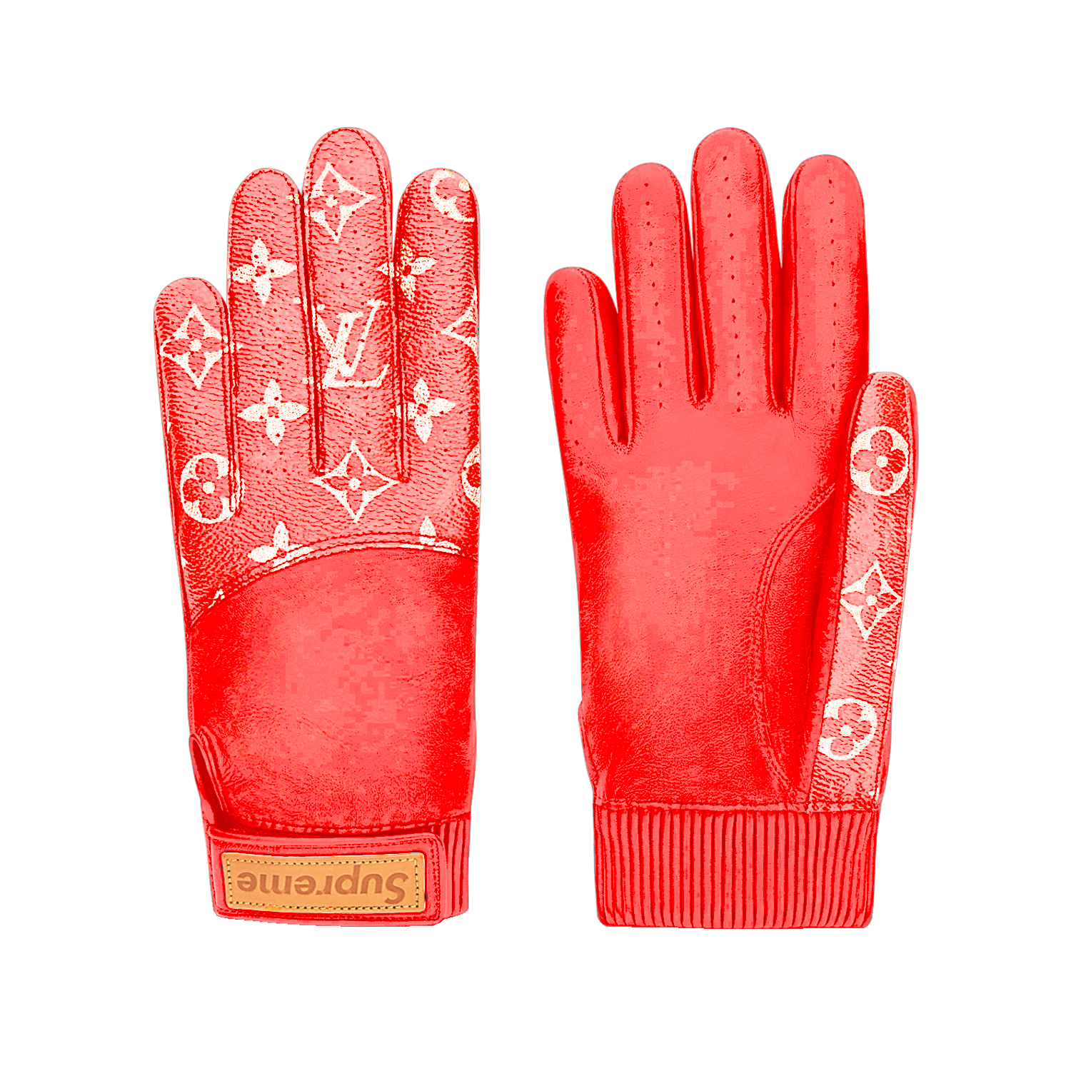 SUPREME BASEBALL GLOVES  - €595 $875MP1892MONOGRAM RED